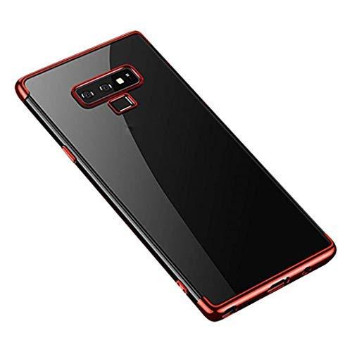 MuSheng For Samsung Galaxy Note 9 Hülle Case, Leichter Fashion Stoßfest Transparente Weicher TPU Überzug Hülle für Samsung Galaxy Note 9 (Rot) Samsung Super-slim