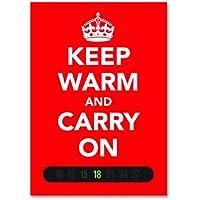 Caldo e Carry On Termometro Card (Rosso). Basato sul mondo guerra II Poster. Arte Moderna. Un ottimo regalo.