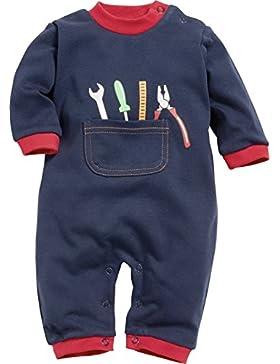 Playshoes Baby-Jungen Schlafstrampler Schlafoverall Heimwerker