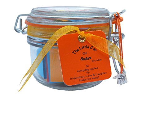 No.1 Best Seller – Success & Inspiration in a Jar. A Month of Thoughtful & Motivational Quotations in a NEW STYLE 314ml Premium Italian Orcio Glass Jar. The Perfect Gift. 31 Multi-Coloured Quotes to Show Your Friends & Family How Much You Value & Believe