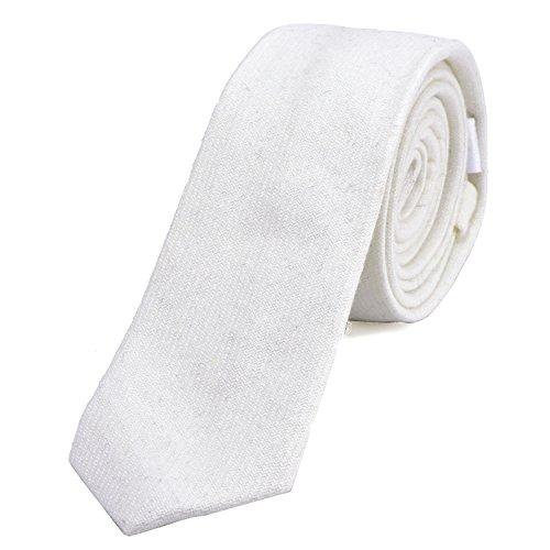 DonDon Fine cravate de coton Tweed pour hommes 6 cm