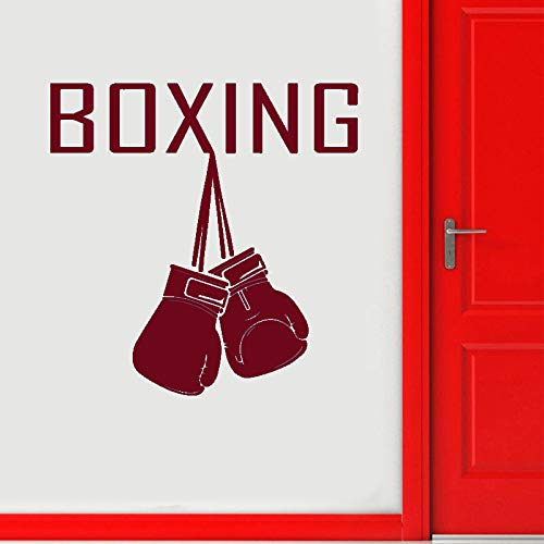 guijiumai Boxhandschuhe Logo Wandtattoo Sport Aufkleber Home Gym Innendekoration Kampfkunst Fight Club Decor Abnehmbare Aufkleber 7 57x58cm