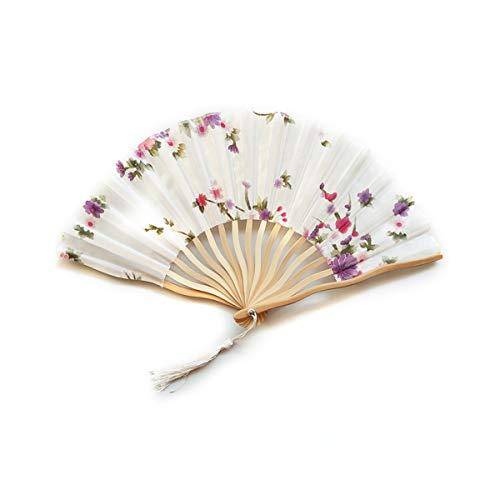 AIUIN Chinesischer Drache Tinte Damen Handfächer Chinesischer Blumen Stoff Fächer Ideal als Hochzeit Geschenk Party Kostüm (Style (2 Mann Drachen Kostüm)