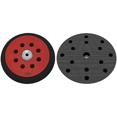 Plato lijador duro para Festool RO150 disco de lijado de VELCRO Ø 150mm - con 15-agujeros para la extracción de polvo - suave medio o duro - a su elección -