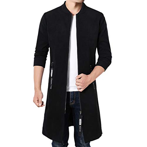 Luckycat Herrenjacke Warme Wintergraben Lange Outwear Button Intelligente Mantel Mäntel Winterjacke Steppjacke Daunenjacke Parka Mäntel Jacken