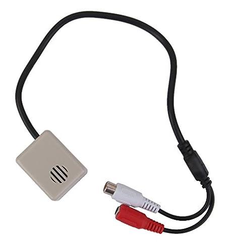 Moniteur Audio Microphone Caméra CCTV Réglable RCA 3.5mm Connecteur