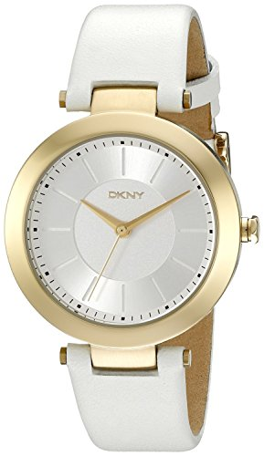 DKNY (DNKY5) Women's Quartz Watch with White Dial Analogue Display and White Stainless Steel Bracelet NY2295