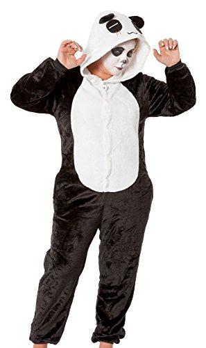 r-dessous hochwertiges Panda Bär Kostüm Damen Herren Unisex Tier Plüsch Karneval Fasching Overall Party Groesse: - Kostüme Karneval Unisex