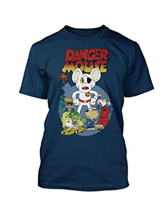 Retro 1980's TV Cartoon Character Dangermouse vintage style Navy t-shirt small