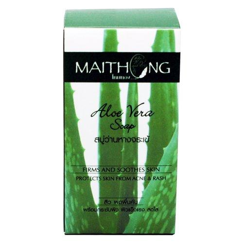 maithong-aloe-vera-soapacne-facial-spaface-and-body-wash-soap-bar-100g