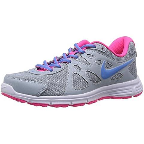 Nike Wmns Revolution 2 MSL - Zapatillas de running para mujer, color gris / rosa / azul / blanco