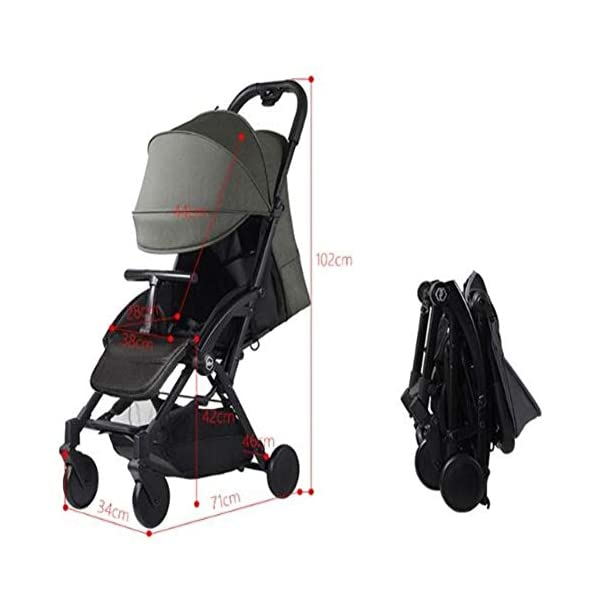 WFCVS Pushchairs Stroller Trolley Sit Lie Shockproof Ultra Light Folding Parachute Car 0-3 Years Old On Board,Claret WFCVS Trolley type: boarding trolley Basket fabric: Oxford cloth / age: 1 months ~4 years old Color classification: black, blue, gray, wine red. Frame material: aluminum alloy / bearing: 25kg Types of wheels for children's cars: natural rubber 4