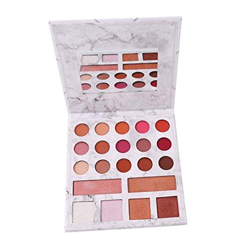 Elistelle 21 Farben Makeup Palette Bunt Profi Augenpalette und Matt Glitzer Lidschatten Highlighter Rouge Bronze (Bronze Make-up-palette)