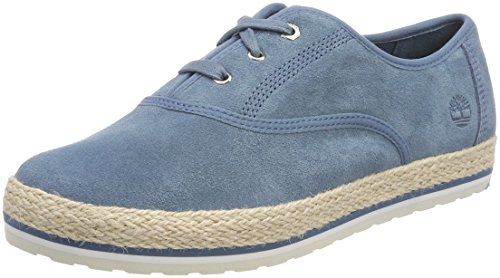 Timberland Mayport, Zapatillas sin Cordones para Mujer, Azul (Stone Blue Canvas with Natural Tan E42), 40 EU