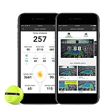 Zepp Unisex 2Smart Tennis Trainer 2, gelb