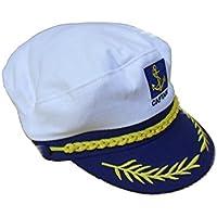 DEET® Blu Navy marinaio capitano cappello/berretto Nautical Marine costume party/Compleanno, studente, notti
