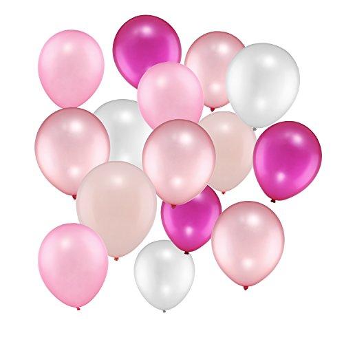100 Stücke 12 Zoll Rosa Reihen Ballone für Hochzeitsfest Dekorationen, 5 Farben (100 Helium Luftballons)