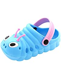 2020 Summer Toddler Beach Sandals Boys Girls Animal Cute Flip First Shoes Anti-Slip Caterpillar Baby Cartoon Slippers Fashion Footwear