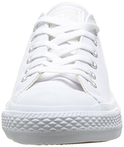 Converse Chuck Taylor All Star Adulte Mono Leather Ox 15460 Unisex - Erwachsene Sneaker Weiß (Blanc Mono)