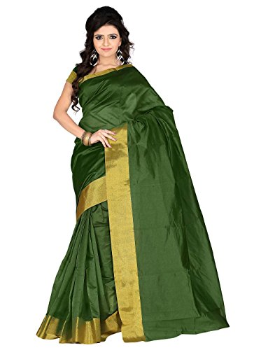 Roopkala Silks & Sarees Poly Cotton Saree(SH-1311_Green)