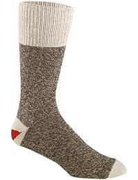 Red Heel Monkey Socks 2 Pairs-Size 8-9 Brown Heather