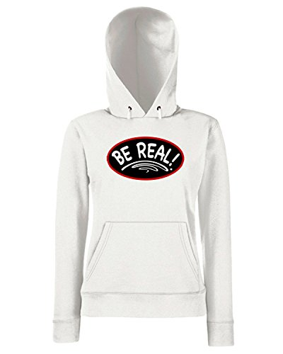 T-Shirtshock - Sweats a capuche Femme OLDENG00212 rbw be real Blanc