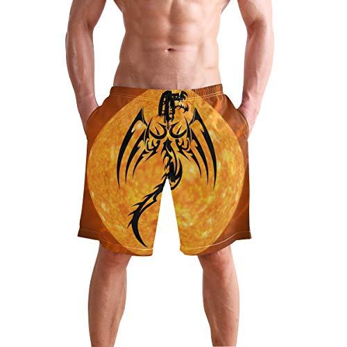 LORONA Dragon Fire Monster Creature Bañador Corto de Secado rápido para Hombre Multicolor Multicolor...