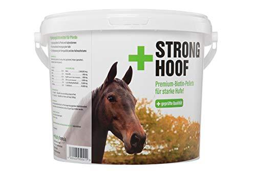 Flex Strong Hoof 5 kg Cubo Premium Complemento alimenticio para Caballos Biotina de pellets con Zinc, Cobre y vitaminas para suplemento alimenticio  para Problemas de Carrera