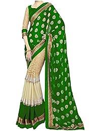 Trendz Women's Cotton Silk Saree With Blouse Piece (Tz_Karishma_Green,Green,Free Size)