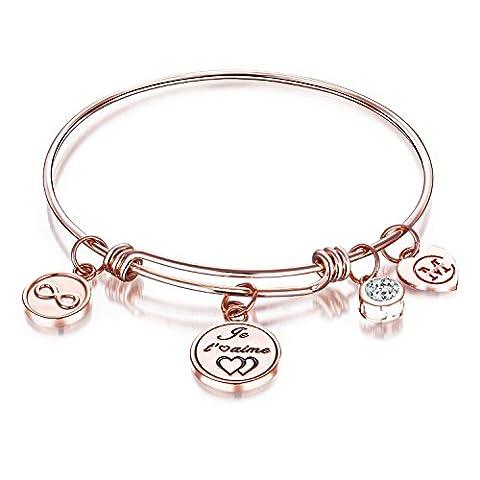 Bracelet Extensible Charme Bracelet Gravé