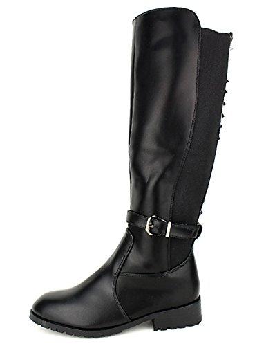 Cendriyon Botte Cavalière Avec Clous Stephan Black Chaussures Femme