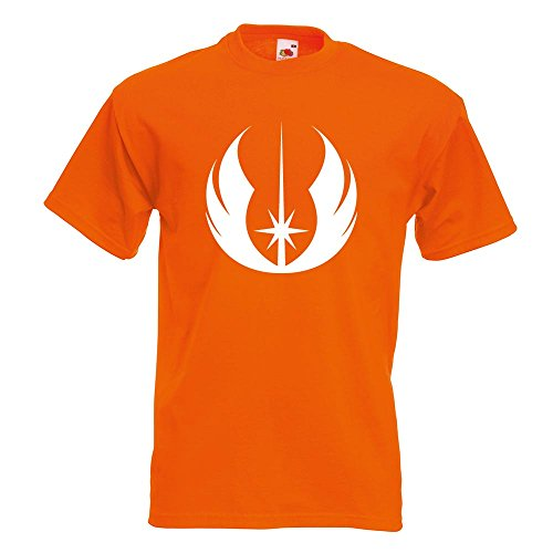 Kiwistar Jedi Orden T-Shirt in 15 verschiedenen Farben Herren Funshirt bedruckt Design Sprüche Spruch Motive Oberteil Baumwolle Print Größe S M L XL XXL Orange