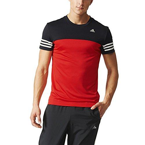 quality design 2ce72 d9f00 adidas Base Mid Tee DD, Camiseta Para Hombre, Rojo   Negro (Rojint