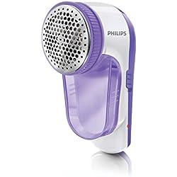Philips GC027/00 Rasoir anti-bouloche électrique Batterie rechargeable via câbleUSB Avec petite brosse de nettoyage Lilas