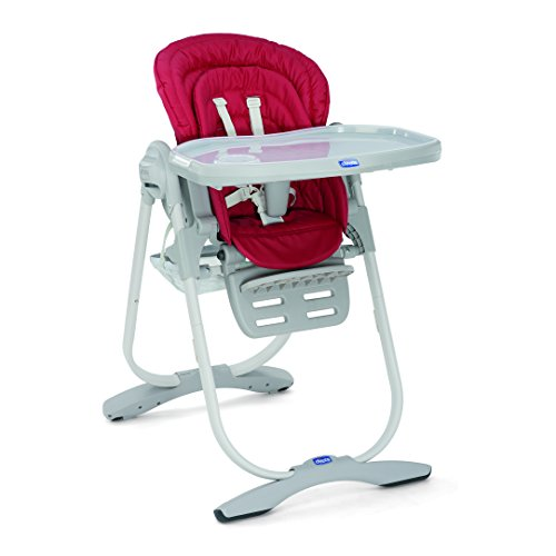 Chicco Polly Magic   Trona compacta para niños de 0 hasta 3 años, 12 kg, color rojo