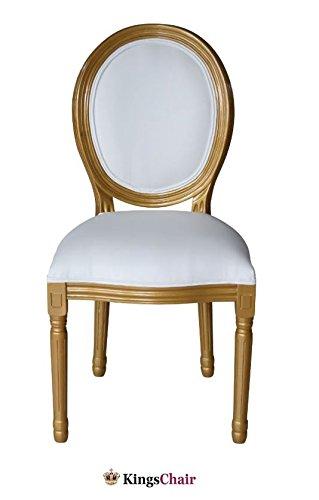 Barockstuhl Esstuhl Designer Stuhl Louis Navi gold/weiss