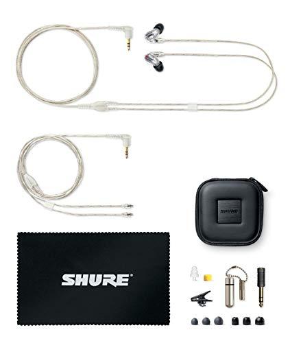 Shure SE846-CL Professionellen Ohrhörer mit Sound-Isolating-Design, vier High-Definition-MicroDrivern und transparentem Kabel mit 3,5-mm-Klinken für definierte Höhen und echte Subwoofer-Leistung - 6
