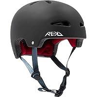 REKD Ultralite In-Mold Helmet Casco Skateboard Unisex Adulto, Negro (Black), 57-59 cm