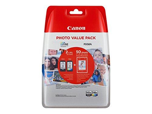 Preisvergleich Produktbild Canon Original Value-Pack Tintenpatronen mit Fotopapier (PG-545 / CL-546 XL + GP-501)