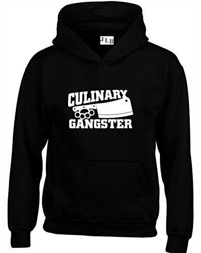 JLB Print Culinary Gangster Cool Sudaderas con Capucha Unisex Hombres Mujeres Adolescentes - Negro/3X Grande