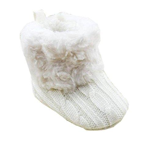 Ularmo Schuhe für 0-36 Monate Baby, Snow Boots Soft-Krippe Schuhe Kleinkind Stiefel (11cm(0-12 Monate))