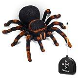 MECO ELEVERDE Araña Teledirigida RC Juguete de Control Remoto Araña Simulado Gritando Iluminacion de ojos Juego de Broma Spider Regalo Divertido para Niños/Parejas/Adolescentes/Adultos/Mascotas