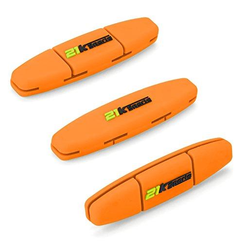 21K Sports Tennis Vibration dampener- Set von 3-Tennis Stoßdämpfer für Strings- Best für Tennis Schläger, Premium-Durable & Long-Lasting- ideal geeignet für Tennis Player (grün), Orange