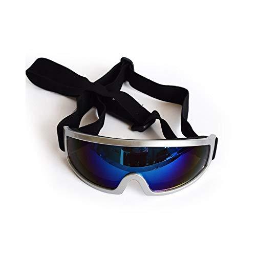 Im Freien Dog Goggles Pet Sonnenbrille Wasserdichter und winddichter UV-Schutz für mittelgroße große Hundebrillen (Color : Silver)