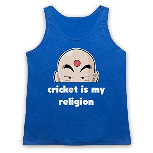 Cricket Is My Religion Cricket Slogan Tank-Top Weste Blau