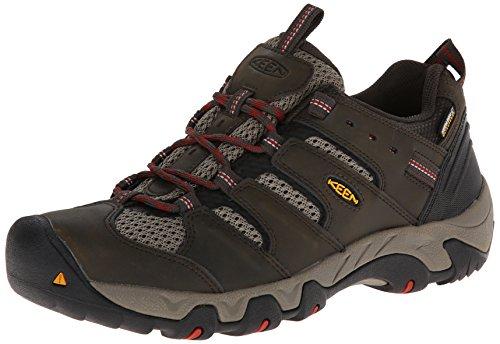 keen-koven-wp-mens-low-rise-hiking-shoes-braun-black-olive-bossa-nova-11-uk