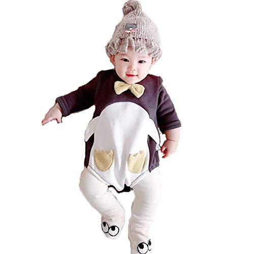 FHYER Baby Kleidung Kinder Krabbeln Tücher Säuglingsjungen und Mädchen Cartoon Pinguin langärmeligen Overall super süße Mönch Kleidung (Baby Mönch Kleidung)