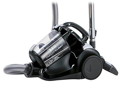 AEG ACC5110 Aspirador sin bolsa CyclonClean con cepillo DustPro de doble posición, suelos duros y alfombras, 800 W, 1.8 litros, 77 Decibelios, Negro ébano