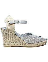 Woz UP361 Sandalo Elastico Spuntato Corda 70 ARGENTO nuova collezione primavera estate 2017