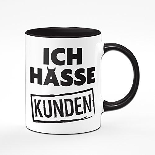 Tasse ICH HASSE KUNDEN - Kaffeetasse - Bürogeschenk - Callcenter - Kundenservice - schwierige Kunden